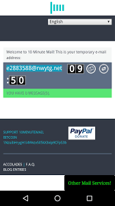 تحميل بريد مؤقت | 10Minute Mail للاندرويد