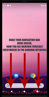تحميل برنامج معرفة حالة الطقس Navbar Weather برابط مباشر